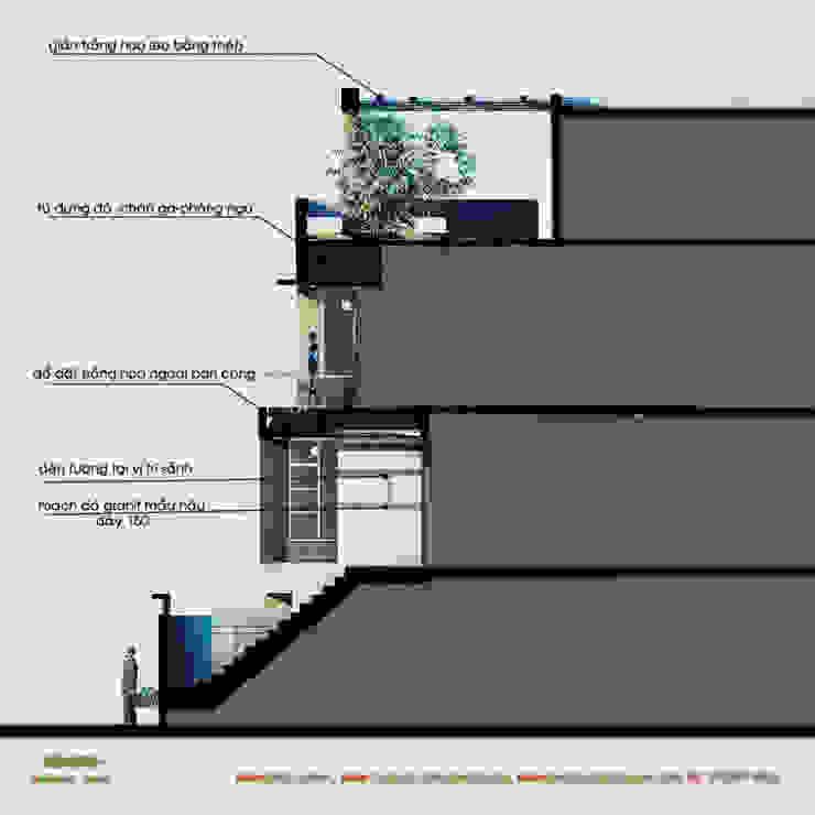 Mặt cắt dọc bởi Công ty TNHH Thiết kế và Ứng dụng QBEST