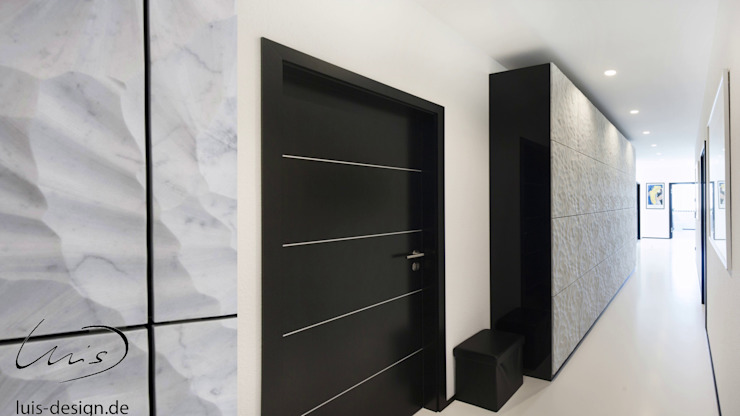 Luxury marble cabinets / marble shelf wall by Luis Desing Minimalist corridor, hallway & stairs by Luis Design Minimalist Marble