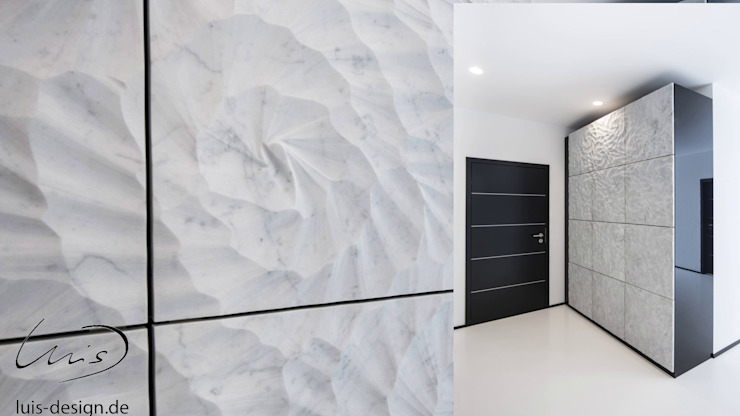 Marble cabinets Modern Corridor, Hallway and Staircase by Luis Design Modern Granite