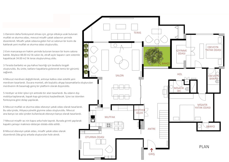 BUKET UÇAR STUDIO – KAVACIK HOUSE PROJECT: minimalist tarz , Minimalist