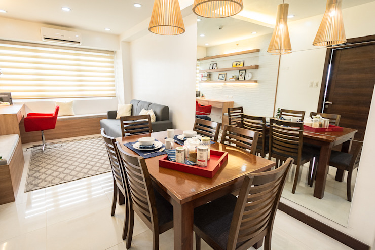 Sonata Private Residences Modern dining room by TG Designing Corner Modern