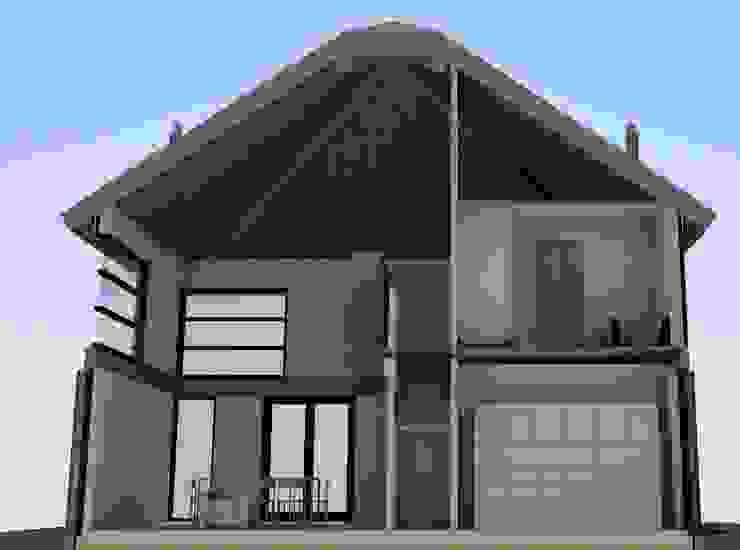 Impressie doorsnede hooibergwoning van JWG Architecten Landelijk