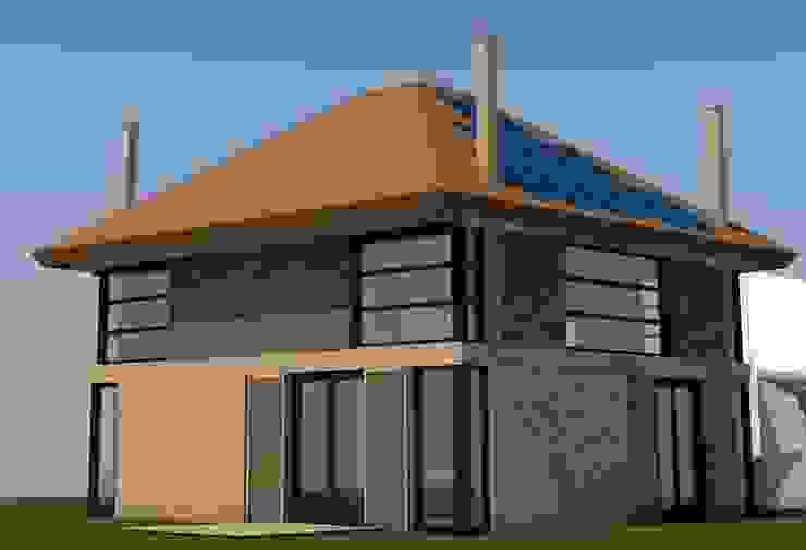 Impressie aanzicht hooibergwoning van JWG Architecten