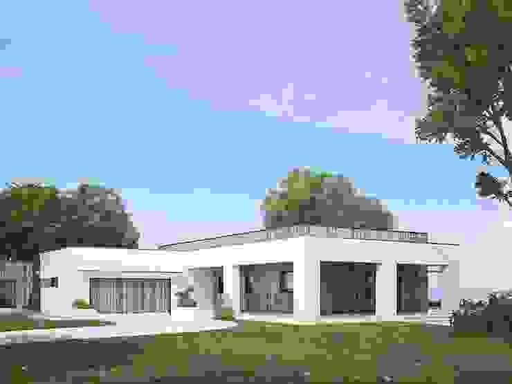 Espaces de bureaux modernes par FHS Casas Prefabricadas Moderne Aluminium/Zinc