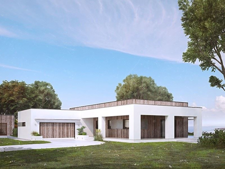 FHS Casas Prefabricadas Edificios de oficinas de estilo moderno Aluminio/Cinc Multicolor