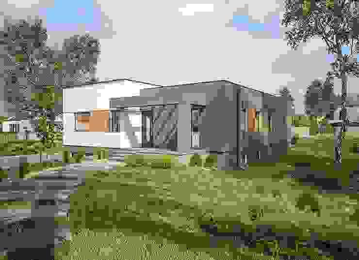 Rumah prefabrikasi dari rangka baja di Spanyol Pusat Perbelanjaan Modern Oleh FHS Casas Prefabricadas Modern Aluminium/Seng