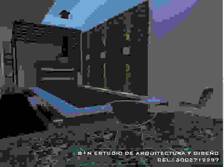 B+N Estudio de Arquitectura y Diseño Modern balcony, veranda & terrace Brown
