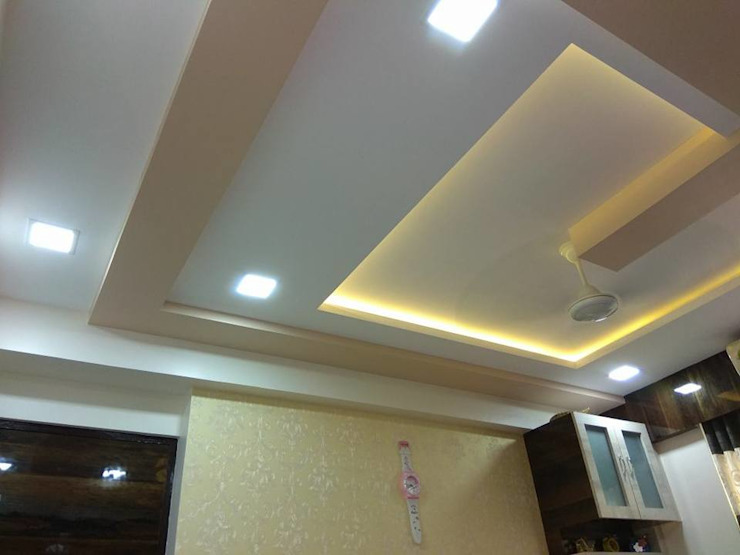 celling design in bedroom: modern  by KUMAR INTERIOR THANE,Modern