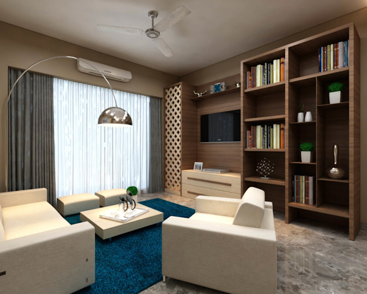 Living room by Midas Dezign, Asian