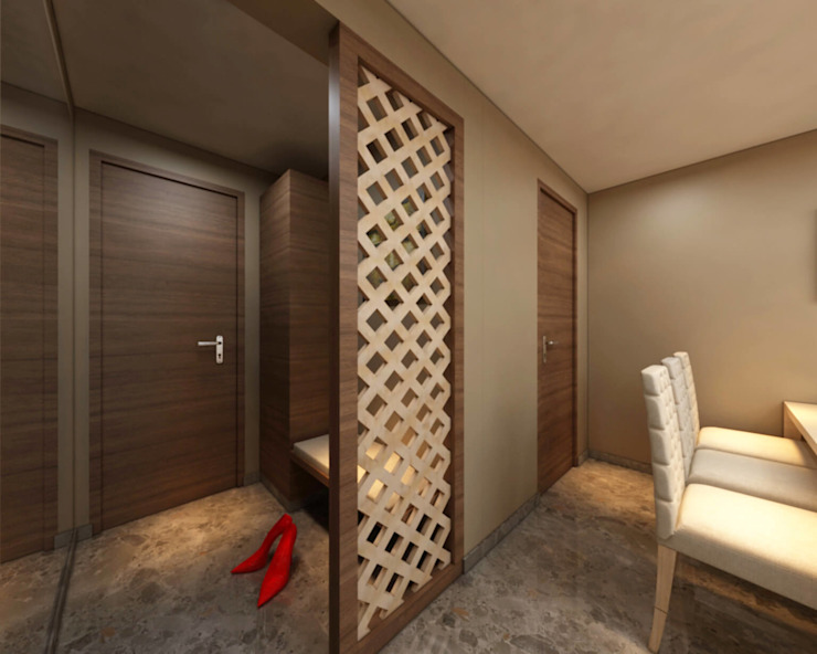 Borivali Residence Asian style corridor, hallway & stairs by Midas Dezign Asian