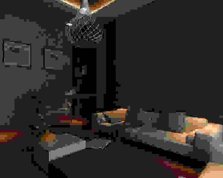 Ashish Rai Residence Midas Dezign Asian style media room
