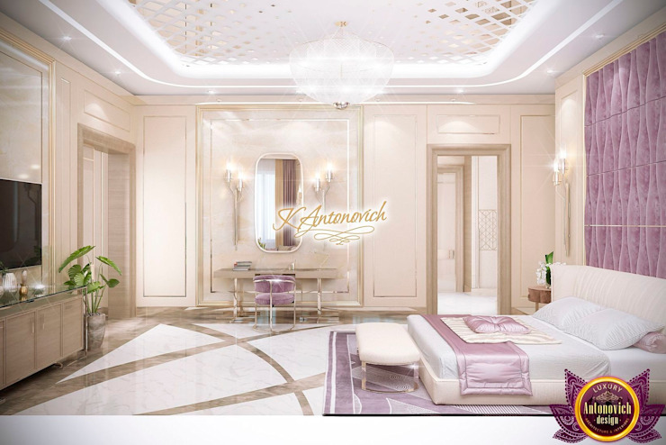 ​Bedroom decoration ideas by Katrina Antonovich Modern style bedroom by Luxury Antonovich Design Modern