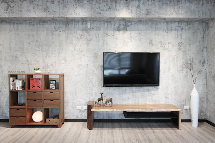 Asian style living room by 森畊空間設計 Asian Solid Wood Multicolored