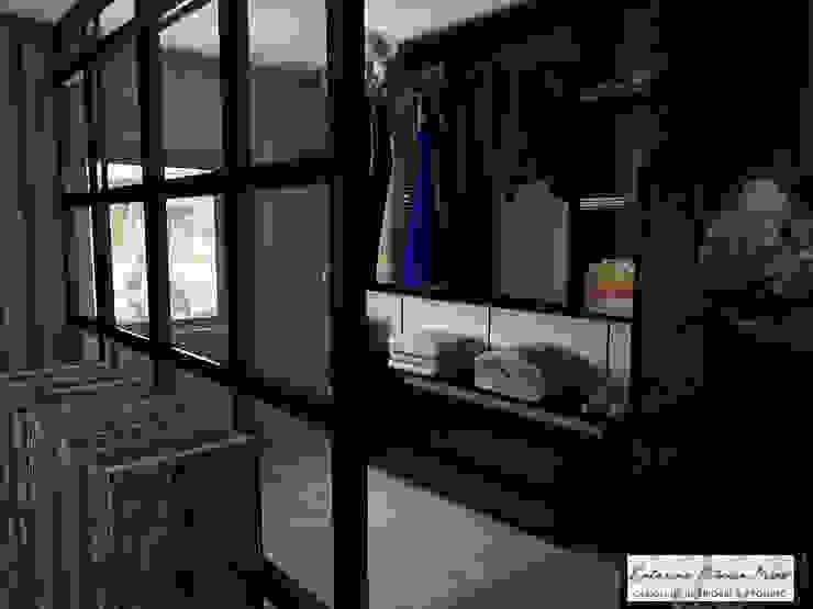 Catarina Piteira Pires - Design de interiores e de produto Ruang Ganti Gaya Industrial Metal Black