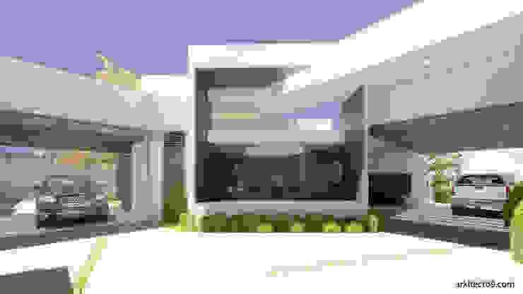arquitecto9.com Casas unifamiliares Concreto Blanco