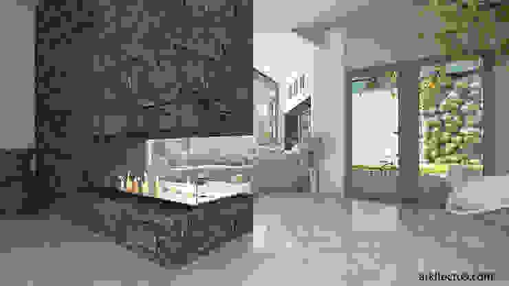 arquitecto9.com Pasillos, vestíbulos y escaleras de estilo moderno