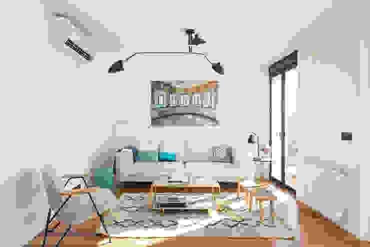 Salas de estar escandinavas por CABALLERO Fotografía de Arquitectura, Inmobiliaria e Interiorismo Escandinavo