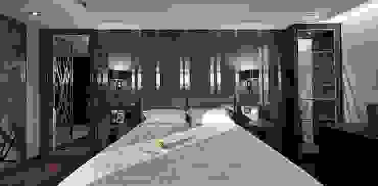 辰林設計 Modern style bedroom Brown