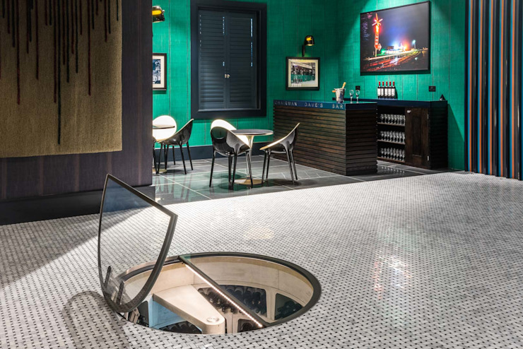 Spiral Cellar and Bar Area by James Rowland Photography Modern