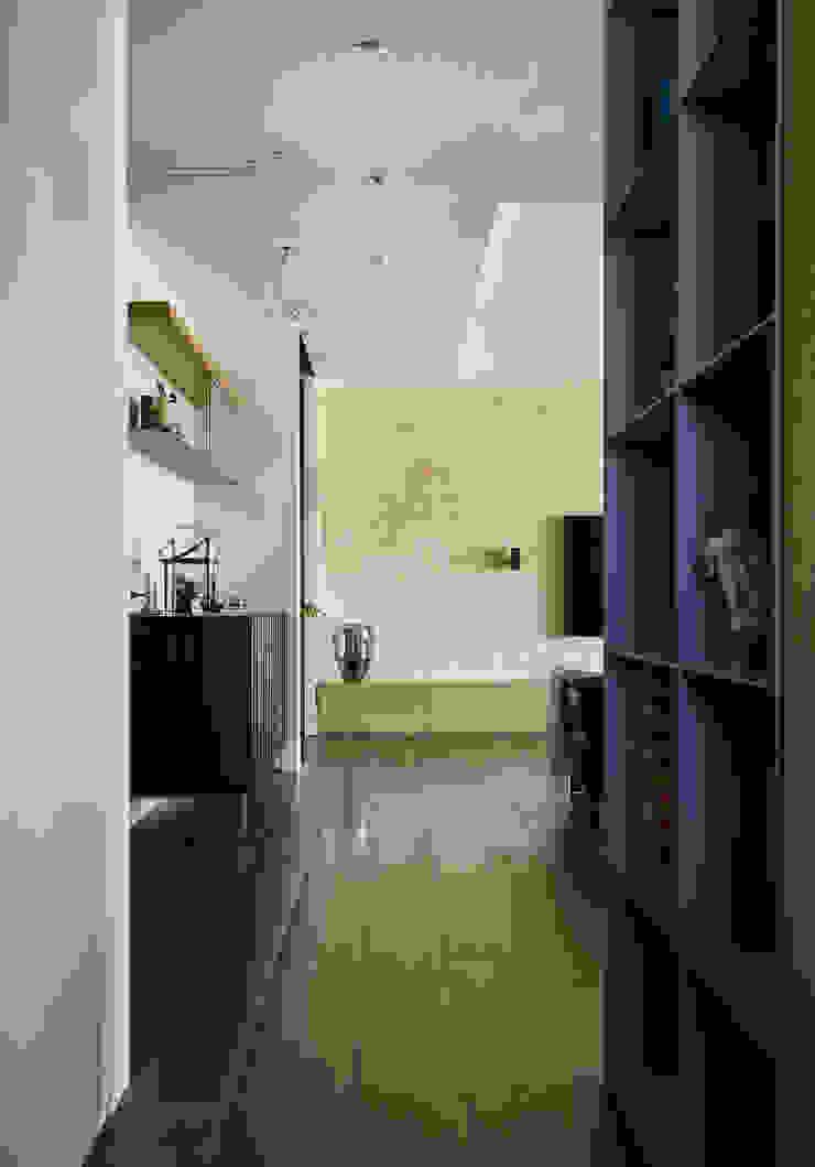 樸十設計有限公司 SIMPURE Design Moderner Flur, Diele & Treppenhaus
