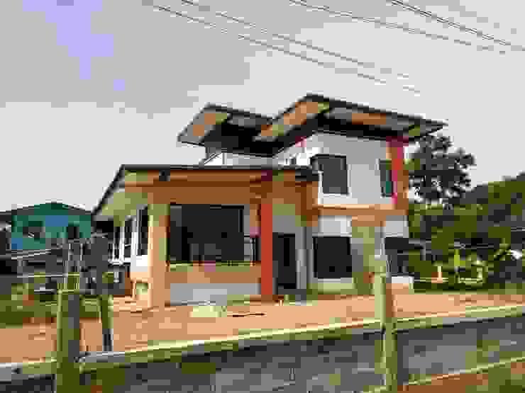 บ้านคุณดอย อ.เมือง จ.น่าน โดย บ้านช่างใหญ่ บริการรับสร้างบ้าน จ.น่าน (รัชนีก่อสร้าง)