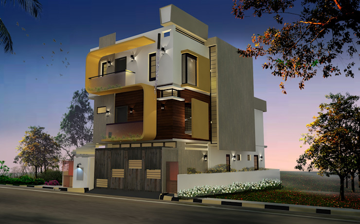 Mr. Shivamurthy Residence by Tangent Structures.