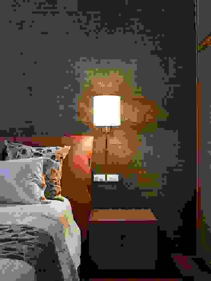 辰林設計 Modern style bedroom Grey