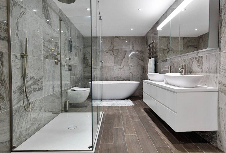 حمام تنفيذ BathroomsByDesign Retail Ltd , حداثي