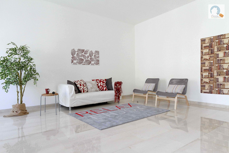 Charming Home Salon moderne Rouge