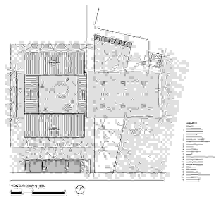 Planta de cobertura por ODVO Arquitetura e Urbanismo