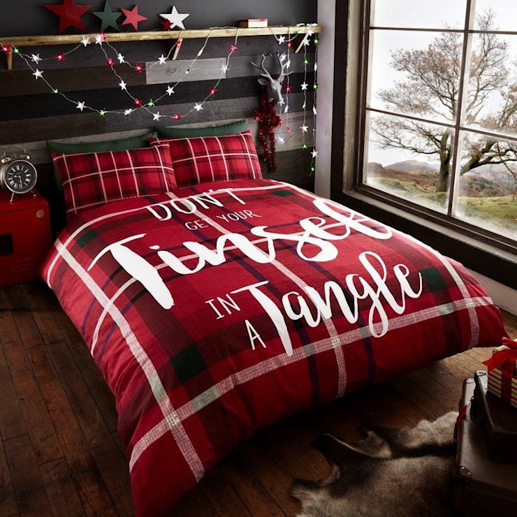 Christmas Bedding Snow Man Duvet Cover Classic style bedroom by alyssa home Classic Tiles