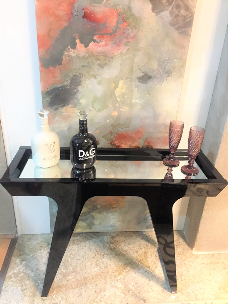 Sgabello Interiores Living roomSide tables & trays Wood Black