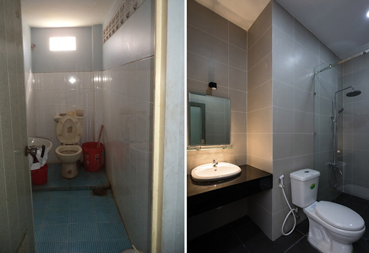 Bathroom by Công ty TNHH TK XD Song Phát, Asian Copper/Bronze/Brass