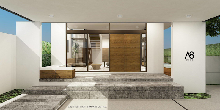 EN-COURT HOUSE : บ้าน 2 ชั้น ซอยประชาอุทิศ โดย A8 Design Studio
