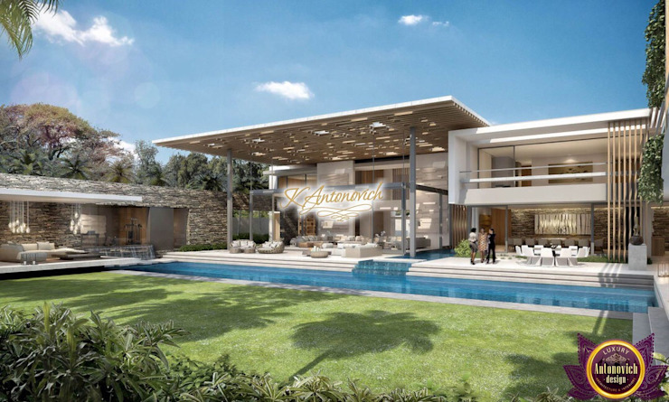 Architectural project in Los Angeles by Katrina Antonovich Modern houses by Luxury Antonovich Design Modern