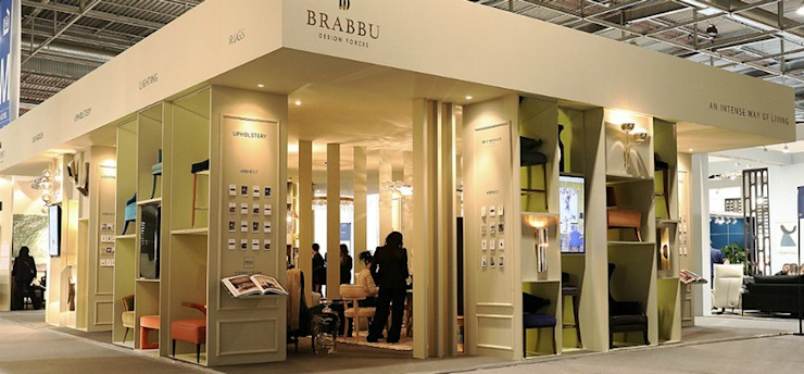 IMM2018 and MM2018: the next BRABBU (Contract) trend fairs Modern Corridor, Hallway and Staircase by BRABBU Design Forces Modern