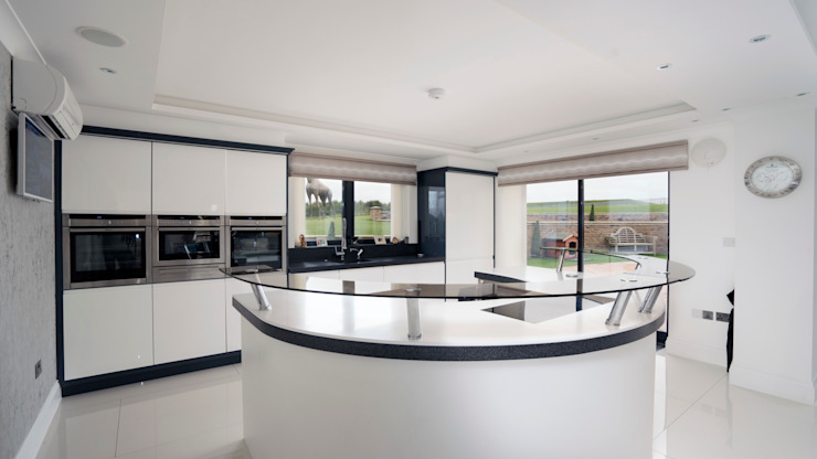 Gloss Handleless Kitchen Ormskirk Cleveland Kitchens Built-in kitchens