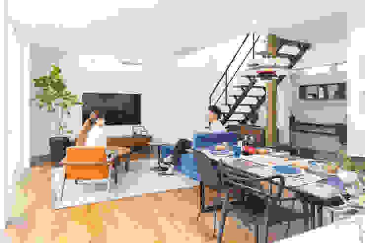 85inc. Living roomSofas & armchairs Leather Orange