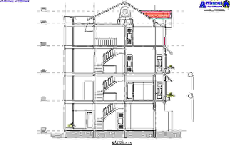 Thiết kế biệt thự đẹp 4 tầng diện tích 7x11m bởi Văn phòng kiến trúc Ktshanoi