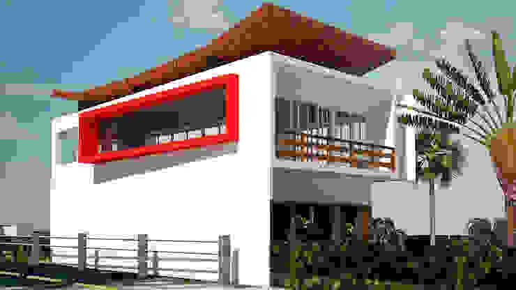Ativo Arquitetura e Consultoria Casas de campo Vidrio Blanco