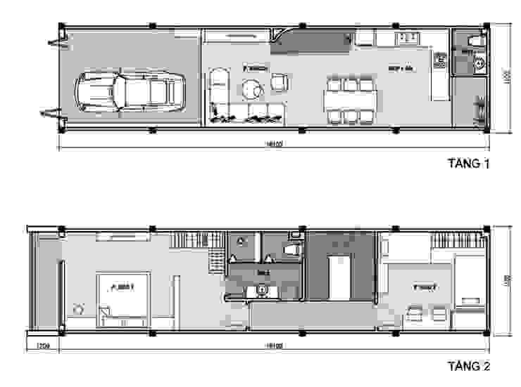 Nhà Ống 3 Tầng 1 Tum Với Thiết Kế Giếng Trời Tuyệt Đẹp bởi Công ty TNHH Xây Dựng TM – DV Song Phát Hiện đại