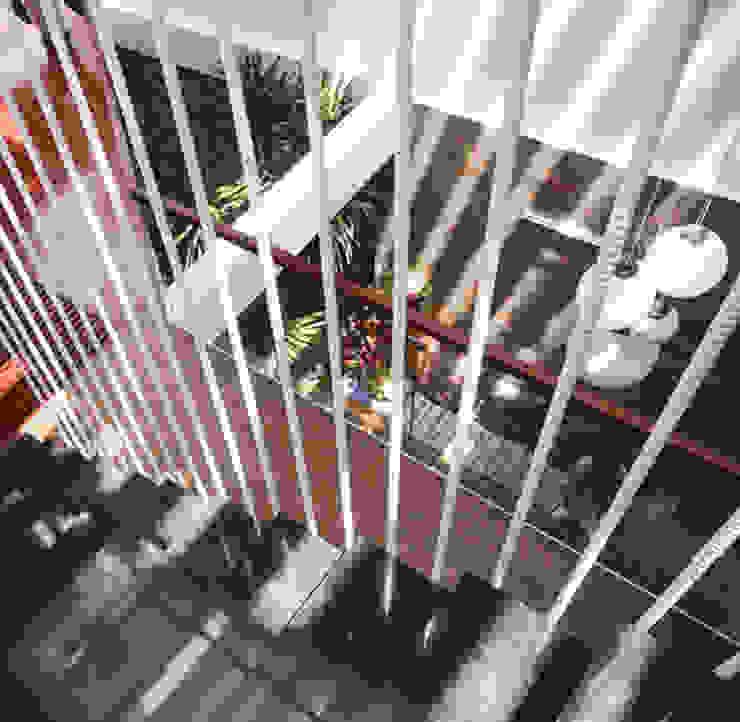 Thiết Kế Nhà Ống 3 Tầng Hướng Nội, Chan Hòa Với Thiên Nhiên:  Cầu thang by Công ty TNHH Xây Dựng TM – DV Song Phát, Hiện đại