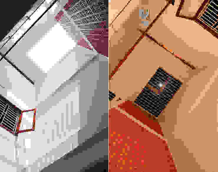 Thiết Kế Nhà Ống 3 Tầng Hướng Nội, Chan Hòa Với Thiên Nhiên:  Mái by Công ty TNHH Xây Dựng TM – DV Song Phát, Hiện đại