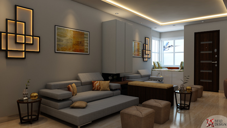 RESIDENTIAL PROJECT Eclectic style living room by homify Eclectic