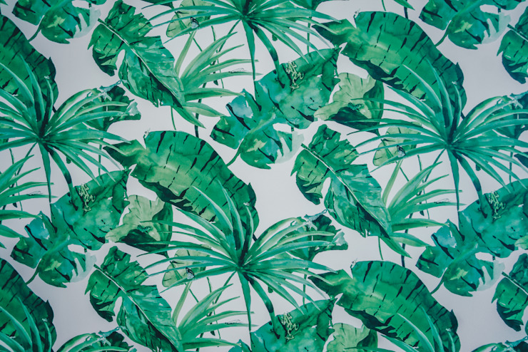 Papel de Parede Paredes e pisos tropicais por YS PROJECT DESIGN Tropical