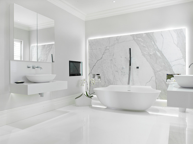 Case Study: New Lodge, Fulham Baños de estilo moderno de BathroomsByDesign Retail Ltd Moderno