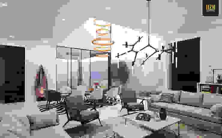 Modern Living Room by HZH Arquitectura & Diseño Modern
