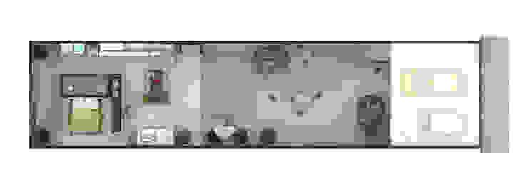 Planta da casa por ODVO Arquitetura e Urbanismo