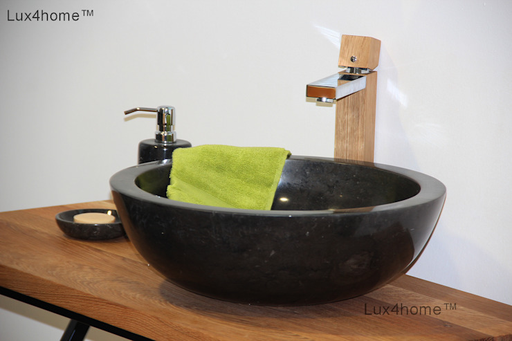 Black marble bathroom sink - black washbasin:  Bathroom by Lux4home™ Indonesia, Scandinavian