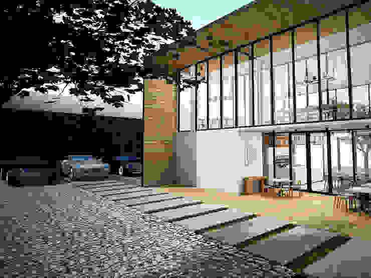 FIT Restaurant Industrial style houses by Zero field design studio Industrial